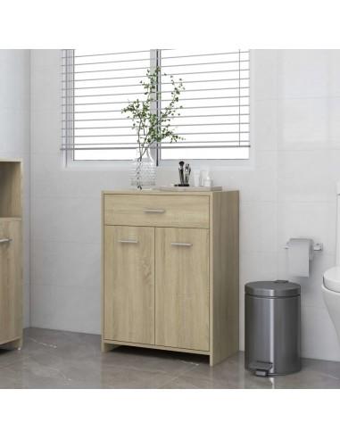 Vonios kambario spintelė, ąžuolo spalvos, 60x33x80cm, MDP | Vonios baldų komplektai | duodu.lt