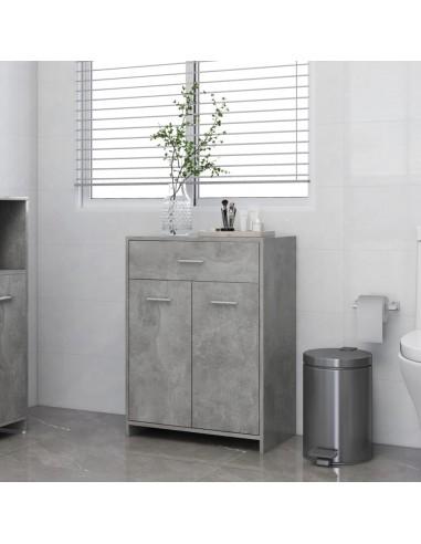 Vonios kambario spintelė, betono pilka, 60x33x80cm, MDP | Vonios baldų komplektai | duodu.lt
