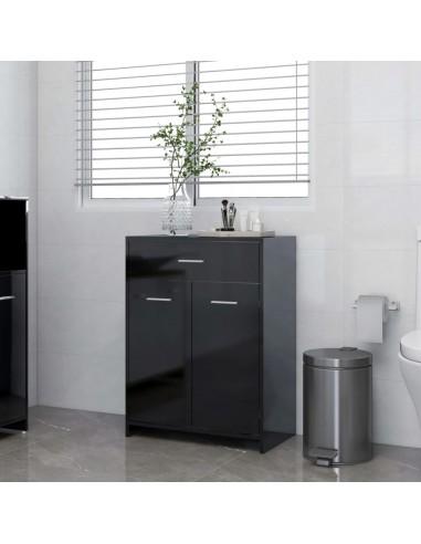 Vonios kambario spintelė, juoda, 60x33x80cm, MDP, ypač blizgi   Vonios baldų komplektai   duodu.lt