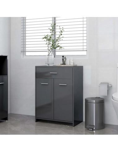 Vonios kambario spintelė, pilka, 60x33x80cm, MDP, ypač blizgi   Vonios baldų komplektai   duodu.lt