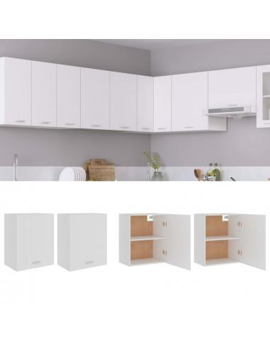 Pakabinamos spintelės, 2vnt., baltos spalvos, 50x31x60cm, MDP | Virtuvės spintelės | duodu.lt