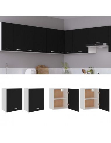 Pakabinamos spintelės, 2vnt., juodos spalvos, 50x31x60cm, MDP   Virtuvės spintelės   duodu.lt