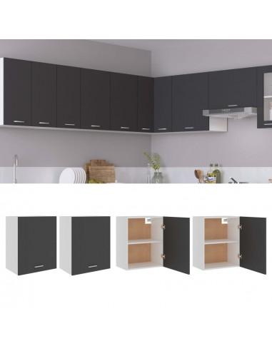 Pakabinamos spintelės, 2vnt., pilkos spalvos, 50x31x60cm, MDP   Virtuvės spintelės   duodu.lt