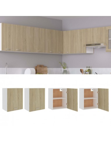 Pakabinamos spintelės, 2vnt., ąžuolo spalvos, 50x31x60cm, MDP | Virtuvės spintelės | duodu.lt