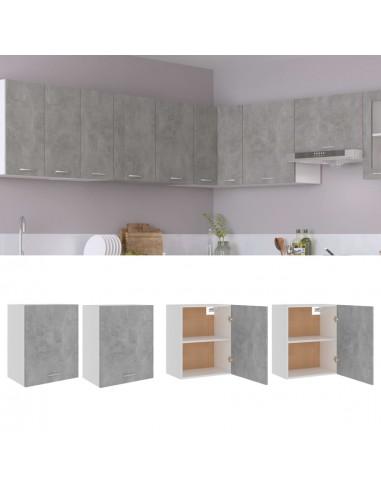 Pakabinamos spintelės, 2vnt., betono pilkos, 50x31x60cm, MDP | Virtuvės spintelės | duodu.lt