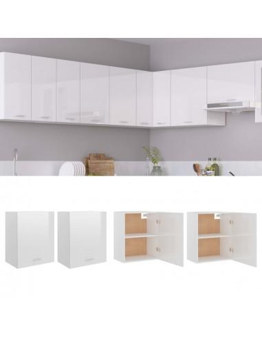 Pakabinamos spintelės, 2vnt., baltos, 50x31x60cm, MDP, blizgios | Virtuvės spintelės | duodu.lt