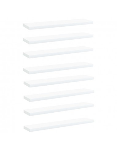 Knygų lentynos plokštės, 8vnt., baltos, 40x10x1,5cm, MDP | Lentynų priedai | duodu.lt