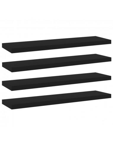 Knygų lentynos plokštės, 4vnt., juodos, 40x10x1,5cm, MDP | Lentynų priedai | duodu.lt