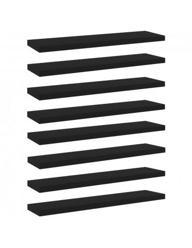 Knygų lentynos plokštės, 8vnt., juodos, 40x10x1,5cm, MDP   Lentynų priedai   duodu.lt