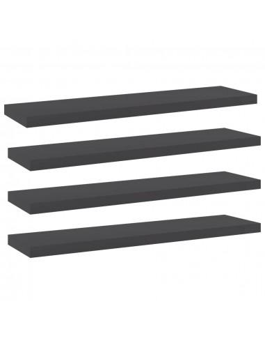 Knygų lentynos plokštės, 4vnt., pilkos, 40x10x1,5cm, MDP | Lentynų priedai | duodu.lt