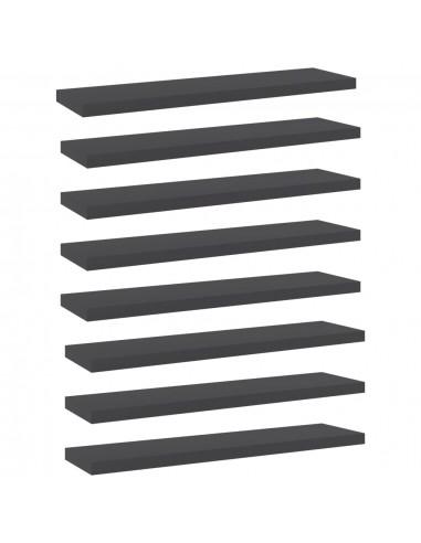 Knygų lentynos plokštės, 8vnt., pilkos, 40x10x1,5cm, MDP   Lentynų priedai   duodu.lt