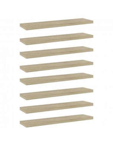 Knygų lentynos plokštės, 8vnt., ąžuolo, 40x10x1,5cm, MDP | Lentynų priedai | duodu.lt