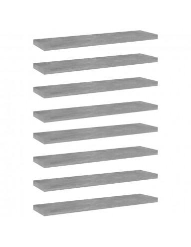 Knygų lentynos plokštės, 8vnt., betono pilkos, 40x10x1,5cm, MDP | Lentynų priedai | duodu.lt