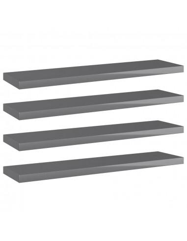 Knygų lentynos plokštės, 4vnt., pilkos, 40x10x1,5cm, MDP   Lentynų priedai   duodu.lt