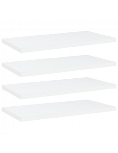 Knygų lentynos plokštės, 4vnt., baltos, 40x20x1,5cm, MDP | Lentynų priedai | duodu.lt