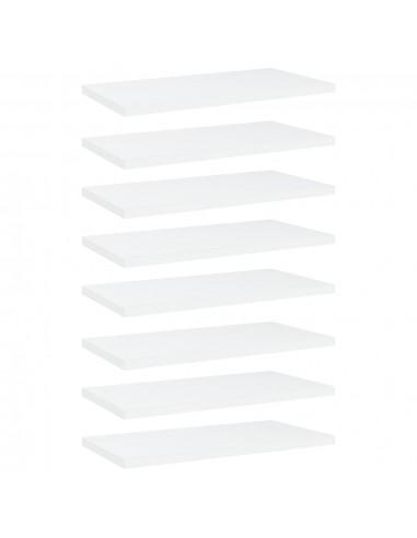 Knygų lentynos plokštės, 8vnt., baltos, 40x20x1,5cm, MDP | Lentynų priedai | duodu.lt