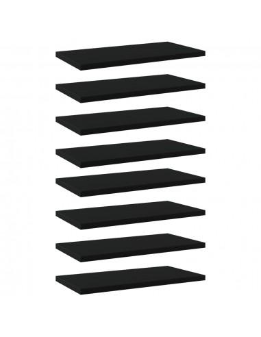 Knygų lentynos plokštės, 8vnt., juodos, 40x20x1,5cm, MDP   Lentynų priedai   duodu.lt