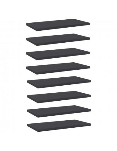 Knygų lentynos plokštės, 8vnt., pilkos, 40x20x1,5cm, MDP   Lentynų priedai   duodu.lt