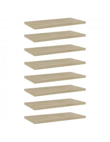 Knygų lentynos plokštės, 8vnt., ąžuolo, 40x20x1,5cm, MDP | Lentynų priedai | duodu.lt