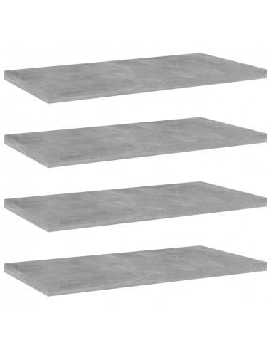 Knygų lentynos plokštės, 4vnt., betono pilkos, 40x20x1,5cm, MDP   Lentynų priedai   duodu.lt