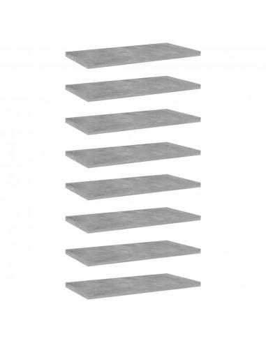 Knygų lentynos plokštės, 8vnt., betono pilkos, 40x20x1,5cm, MDP | Lentynų priedai | duodu.lt