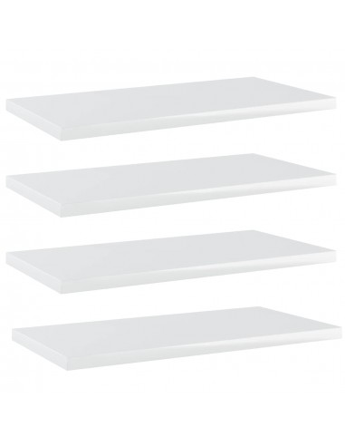 Knygų lentynos plokštės, 4vnt., baltos, 40x20x1,5cm, MDP   Lentynų priedai   duodu.lt