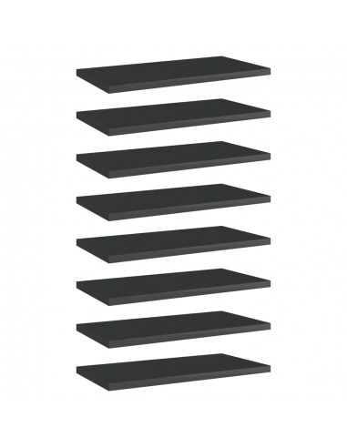 Knygų lentynos plokštės, 8vnt., juodos, 40x20x1,5cm, MDP | Lentynų priedai | duodu.lt
