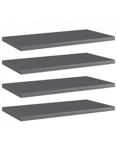 Knygų lentynos plokštės, 4vnt., pilkos, 40x20x1,5cm, MDP   Lentynų priedai   duodu.lt