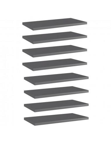 Knygų lentynos plokštės, 8vnt., pilkos, 40x20x1,5cm, MDP | Lentynų priedai | duodu.lt