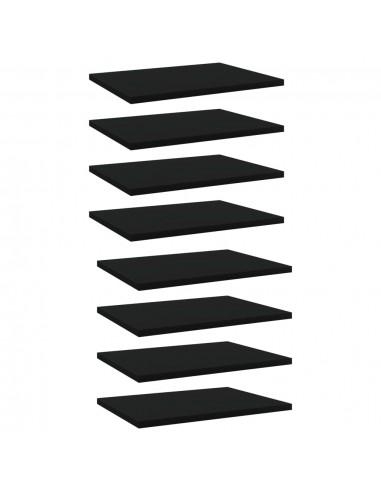 Knygų lentynos plokštės, 8vnt., juodos, 40x30x1,5cm, MDP   Lentynų priedai   duodu.lt