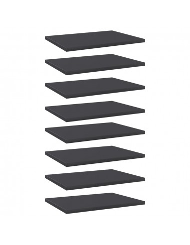 Knygų lentynos plokštės, 8vnt., pilkos, 40x30x1,5cm, MDP | Lentynų priedai | duodu.lt