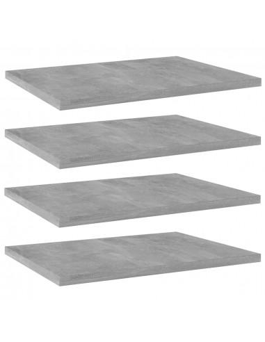 Knygų lentynos plokštės, 4vnt., betono pilkos, 40x30x1,5cm, MDP   Lentynų priedai   duodu.lt