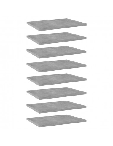 Knygų lentynos plokštės, 8vnt., betono pilkos, 40x30x1,5cm, MDP   Lentynų priedai   duodu.lt
