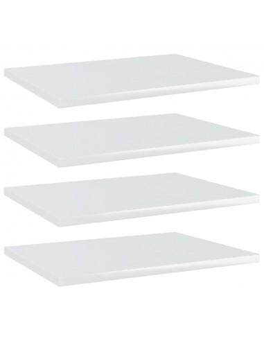 Knygų lentynos plokštės, 4vnt., baltos, 40x30x1,5cm, MDP   Lentynų priedai   duodu.lt