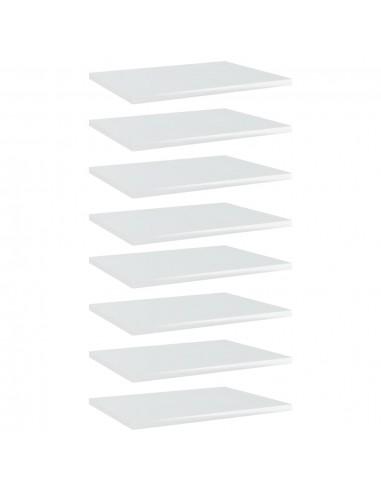 Knygų lentynos plokštės, 8vnt., baltos, 40x30x1,5cm, MDP | Lentynų priedai | duodu.lt