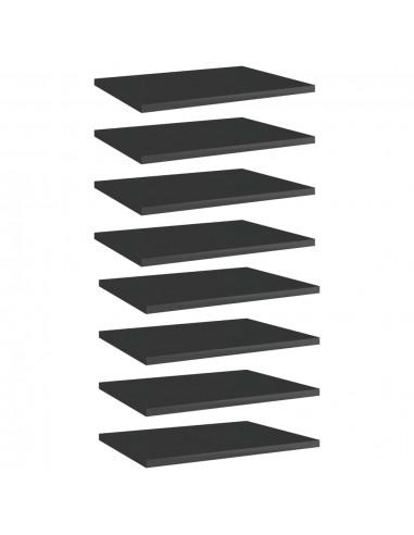 Knygų lentynos plokštės, 8vnt., juodos, 40x30x1,5cm, MDP | Lentynų priedai | duodu.lt