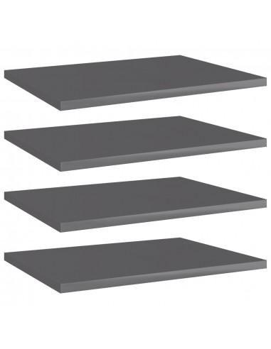 Knygų lentynos plokštės, 4vnt., pilkos, 40x30x1,5cm, MDP | Lentynų priedai | duodu.lt