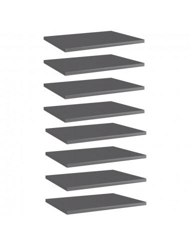 Knygų lentynos plokštės, 8vnt., pilkos, 40x30x1,5cm, MDP   Lentynų priedai   duodu.lt