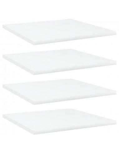 Knygų lentynos plokštės, 4vnt., baltos, 40x40x1,5cm, MDP | Lentynų priedai | duodu.lt