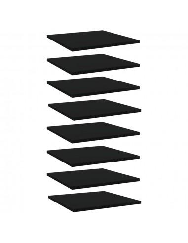 Knygų lentynos plokštės, 8vnt., juodos, 40x40x1,5cm, MDP | Lentynų priedai | duodu.lt
