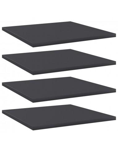 Knygų lentynos plokštės, 4vnt., pilkos, 40x40x1,5cm, MDP | Lentynų priedai | duodu.lt