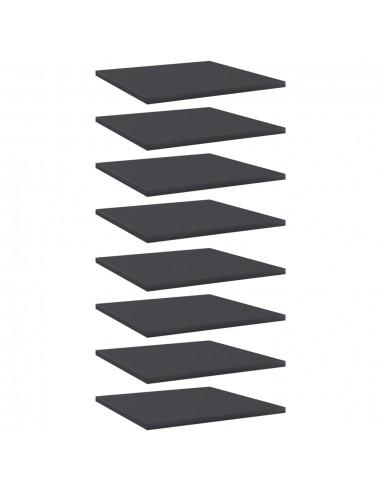 Knygų lentynos plokštės, 8vnt., pilkos, 40x40x1,5cm, MDP | Lentynų priedai | duodu.lt