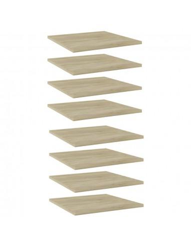 Knygų lentynos plokštės, 8vnt., ąžuolo, 40x40x1,5cm, MDP | Lentynų priedai | duodu.lt