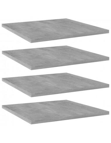 Knygų lentynos plokštės, 4vnt., betono pilkos, 40x40x1,5cm, MDP | Lentynų priedai | duodu.lt