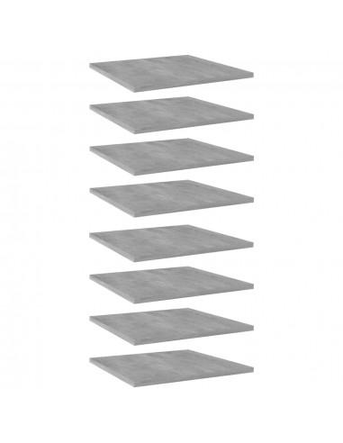 Knygų lentynos plokštės, 8vnt., betono pilkos, 40x40x1,5cm, MDP   Lentynų priedai   duodu.lt