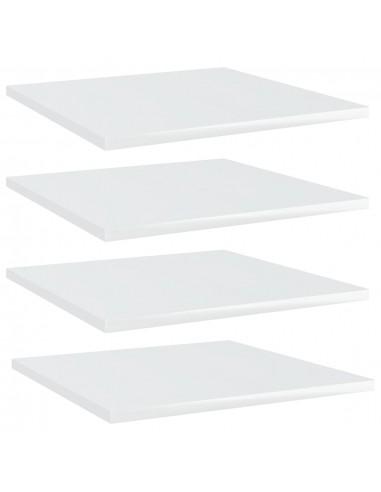 Knygų lentynos plokštės, 4vnt., baltos, 40x40x1,5cm, MDP   Lentynų priedai   duodu.lt