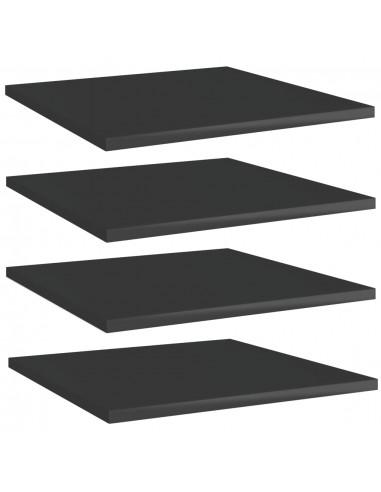 Knygų lentynos plokštės, 4vnt., juodos, 40x40x1,5cm, MDP   Lentynų priedai   duodu.lt