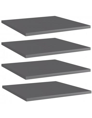 Knygų lentynos plokštės, 4vnt., pilkos, 40x40x1,5cm, MDP   Lentynų priedai   duodu.lt