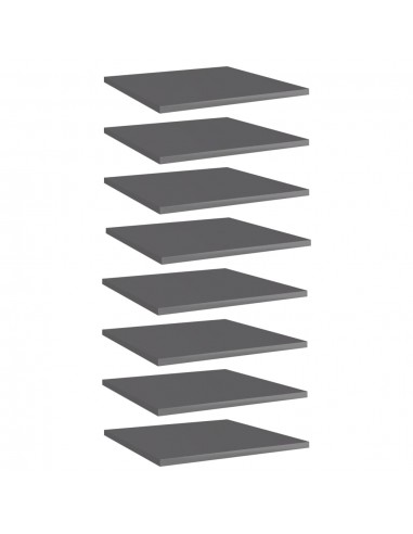 Knygų lentynos plokštės, 8vnt., pilkos, 40x40x1,5cm, MDP   Lentynų priedai   duodu.lt