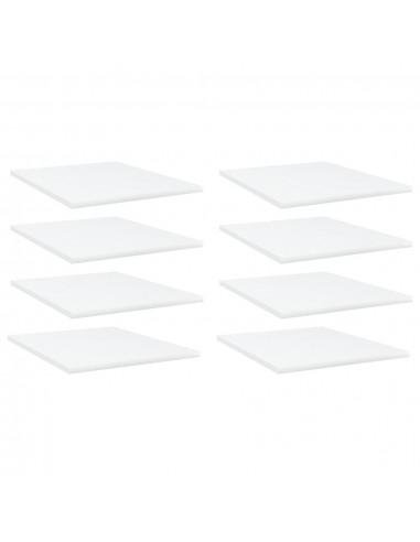 Knygų lentynos plokštės, 8vnt., baltos, 40x50x1,5cm, MDP   Lentynų priedai   duodu.lt